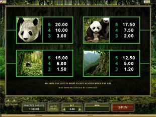 Untamed Giant Panda Slots Payout