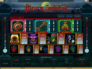Alaxe in Zombieland Slots Payout