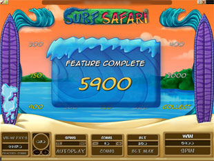 Surf Safari Bonus Game
