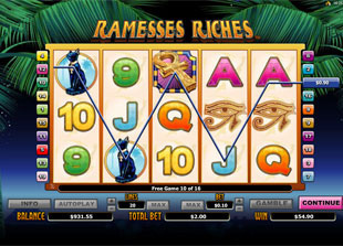 Ramesses Riches Free Games Feature