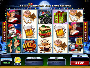 Santa's Wild Ride Slot Machine
