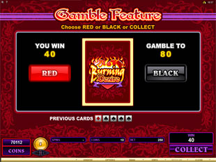 Burning Desire Gamble Feature